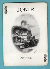 1 Single Swap Playing Card JOKER J3 THE MILL DATED 1899 ANTIQUE OLD WIDE VINTAGE