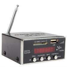 Digital Audio Power Amplifier Home SD USB MMC Mini Hi-Fi Stereo MP3 Player