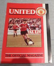 Manchester United The Official Members Magazine April 1992 Man Utd