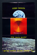 Robin Trower For Earth Below 1975 Album Promo Vintage Poster 20 x 30