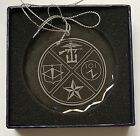 """CIA NCS/DO SAD Special Operations Group OSS Themed 3"""" Beveled Crystal Ornament"""