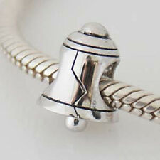 BELL CHRISTMAS Genuine 925 sterling silver charm bead fits European bracelet
