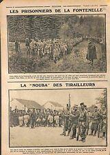 Prisonniers Feldgrauen de la Fontenelle/Tirailleurs Algériens Champagne 1915 WWI