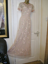 16 ASOS NUDE EMBELLISHED DRESS SALON EVENING 20'S 30'S VINTAGE GATSBY PARTY