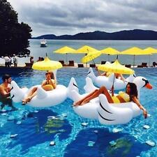 Verano Lago Piscina Infantil Gigante De Montar Cisne Flotador Inflable Juguete E