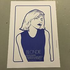 BLONDIE - CONCERT POSTER ODEON THEATRE LONDON 9TH SEPTEMBER  (A3 SIZE)