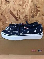 VANS AUTHENTIC MLB NEW YORK YANKEES NAVY SIZE 12 NEW IN BOX