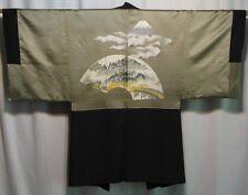 """""""Pilgrimage"""" Vintage Japanese Men's Silk Haori Jacket for Kimono Collectible"""