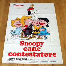 SNOOPY CANE CONTESTATORE poster manifesto Charlie Brown Peanuts Woodstock Sally