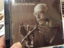 GREG CHAMPION CD CRICKET'S ON THE RADIO OOP OZ COMEDY CD 2005