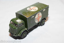 DINKY TOYS 626 MILITARY ARMY BEDFORD AMBULANCE WAGON TRUCK GOOD CONDITION