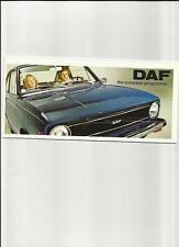DAF 33, 44 AND 66 RANGE SALES BROCHURE 1973 1974