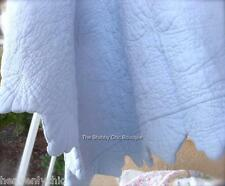 Shabby Hamptons Chic Bedspread Cover Ocean Blue Queen Bed Cover Quilt Pillow Set
