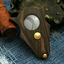 COHIBA ebony wood inlay stainless steel double blades cigar cutter cigar tool