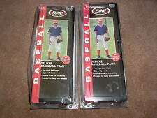 2 Brand New Pairs of Bike Deluxe Baseball Pants Youth Large White Double Knee