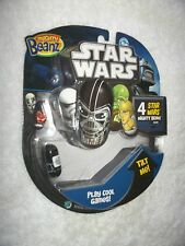 #1 LUKE SKYWALKER STAR WARS MOOSE MIGHTY BEANZ - UNOPENED 4 BEANS PACK MIB RARE