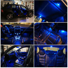 For Mazda CX-5 2013-2016 Blue LED Interior Kit + Xenon White License Light LED