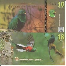 ATLANTIC FOREST BILLETE 16 AVES DOLLARS 2016