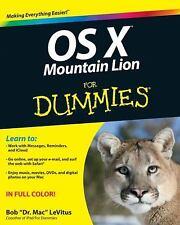 OS X Mountain Lion For Dummies, LeVitus, Bob, Good Book