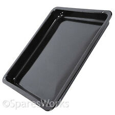 AEG Oven Cooker Drip Tray Pan Black Enamelled Genuine Replacement Spare Part
