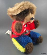 Mountie Teddy Bear Plush RCMP Uniform Sitting Cu-Ma Made Canada 1980s Vtg