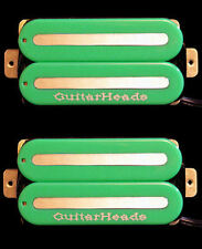 Guitar Parts GUITARHEADS PICKUPS MEGAMETAL HUMBUCKER - Bridge Neck SET 2 - GREEN