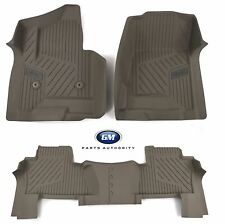 15-17 GMC Yukon Front & 2nd Row Premium All Weather Floor Liners Dune OEM GM