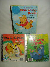 3 Vintage Little Golden Books - Winnie the Pooh, Jungle Book, The Honey Tree