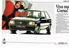 PUBLICITE ADVERTISING   1986   OPEL  CORSA  VIVA  ( 2 pages)