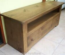 SOLID WOODEN TV STAND CABINET ENTERTAINMENT UNIT RUSTIC PLANK PINE any size made
