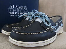 SPERRY Top Sider Bluefish Navy Leather & Mesh Loafer Boat Shoes US 7.5 EU 38 NWB