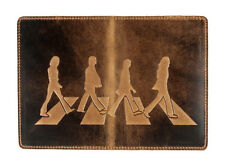 "Premium leather passport cover case "" 3D Print Walking Beatles on Abbey Road """
