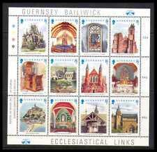 Guernsey 1988 Navidad/iglesias/edificios/arquitectura Sht 12v (b6191)