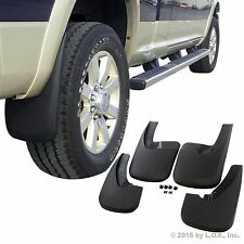 Dodge Ram 1500 Mud Flaps 09-17 with OEM Flares Mud Guards Splash 4 Pc Front Rear
