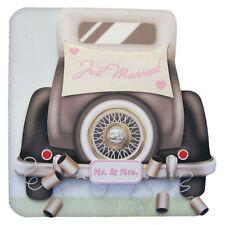 Novelli Sposi Matrimonio auto carta realizzato a mano decoupage 3d con busta di corrispondenza