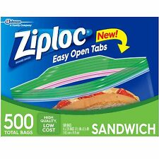 Ziploc Sandwich Bags 500 ct. Lunch Travel Snack Boxes Storage Smart NEW