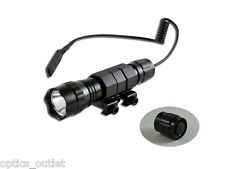 Orion H40-W 500 Lumen Tactical Flashlight w Pressure Switch Picatinny Rail Mount