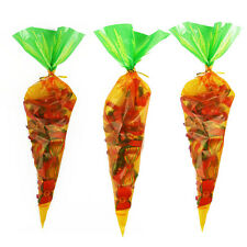 50pcs Easter Carrot Cone Favour Sweets Bag Party Loot Treat Gift Spring