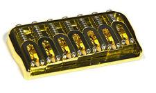"Hipshot 41070G 7-String Hardtail Fixed Electric Guitar Bridge .125"" - GOLD"