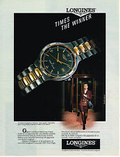 PUBLICITE ADVERTISING 054  1990  LONGINES   collection montres THE WINNER