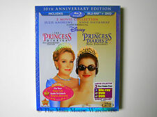 Disney The Princess Diaries 1 & 2 Double Feature Blu Blu-ray DVD No Slipcover