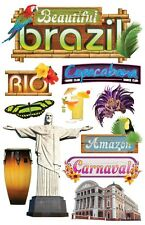 Brazil Rio Olympics 2016 Amazon Carnaval Copacabana Paper House 3D Stickers