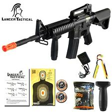 Lancer Tactical Airsoft M4 M16 RIS Electric Metal Gearbox AEG Rifle Gun LT-04B