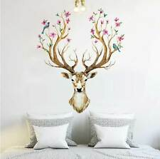 Buck Deer HEAD Decals Decor Art Living room Home Removable Mural Wall Stickers