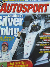 AUTOSPORT MAGAZINE APR 27 2000 COULTHARD'S SILVER LINING JENSON BUTTON JAG RACE