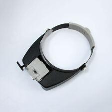 Jewelers Head Headband Magnifier Magnifying Glasses Light Visor Loupe 3 LED NEW