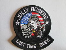 JOLLY ROGERS  LAST TIME .. BABY Embroidered  Iron - On Patch P103