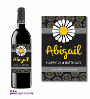 PERSONALISED BIRTHDAY WINE or CHAMPAGNE LABEL B1 18th, 21st, 30th, 40th, 50th.