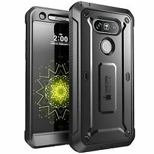 LG G5 Case Cover Screen Protector Hard Shell Holster Belt Clip Shock Proof Black