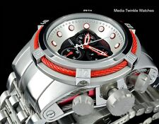 NEW Invicta Reserve Bolt ZEUS Swiss Quart Black Dial RED CABLES  Bracelet Watch